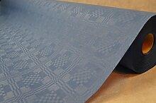50 Meter Lang 100 Cm Breit Farbe: Blau Tischdecke Papier Damastprägung Tischtuch Papierttischdecke Decke Rolle Papiertischdeckenrolle Papierdecke