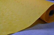 50 Meter Lang 100 Cm Breit Farbe: Gelb Tischdecke Papier Damastprägung Tischtuch Papierttischdecke Decke Rolle Papiertischdeckenrolle Papierdecke