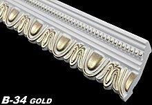 50 Meter Zierprofile Zierleisten Eckprofile Dekor Stuck 70x90mm, B-34 GOLD