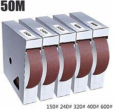 50 Mt Schleifpapier Rolle Band Box Polieren