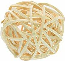 50Natur Rattan Ball Festive Party Home Dekoration, 10 cm