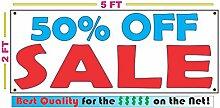 50% off SALE Banner Schild