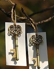 50Skelett Schlüssel Flaschenöffner Hochzeit