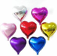 50 Stk 10 Zoll Herz Geformten Aluminium Folie Film Aufblasbare Ballons Geburtstag Urlaub Hochzeit Party Dekoration Metallic Ballon Zufällige Farbe