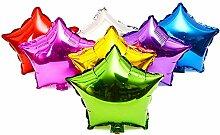 50 Stk 10-Zoll-Stern Geformt Aluminium Folie Film Aufblasbaren Ballons Geburtstag Urlaub Hochzeit Party Dekoration Metallic Ballon Zufällige Farbe