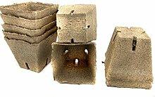 50-Stk Jiffy-Pot Anzucht-Topf aus Torf viereckige