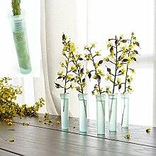 50 Stück 38mm Klare Blumenwasserstandard Rohr
