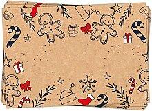 50 Stück Geschenkaufkleber Weihnachten