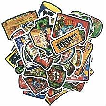 50 Stück Handzeichnung Aquarell süß Essen und