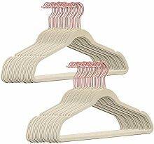 50 Stück hochwertige Samt Kleiderbügel in der