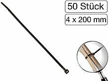 50 Stück Kabelbinder schwarz 200 mm
