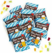 50 Stück kleine BAYERN blau weiß Gummibärchen