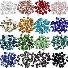 50 Stück/Lot Mix Formen Glas Kristall bunte