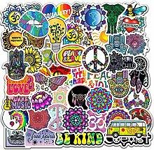 50 Stück Peace Love Hippie Aufkleber für