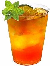 50 Stück Trinkbecher Hartplastik Einweg Becher Cocktail-Becher STAR-LINE® Hart-Plastik Kristall-Glasklar Sekt-Cocktail-Saft-Becher