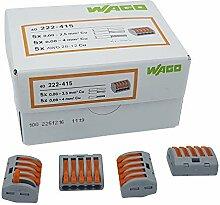 50 Stück Wago 222-415 Verbindungsklemme 5 Leiter