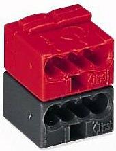 50 Stück Wago Steckverbinder für EIB-Anwendungen, Farbe: dunkelgrau und rot verraste