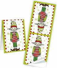 50 Stück Weihnachtsaufkleber Aufkleber 5 x 15 cm
