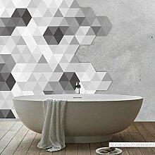 50 Stück Weiß Schwarz Grau Effekt Mosaik