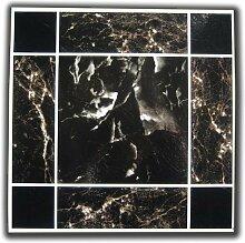 50 VINYL-Bodenfliesen: schwarz, braun, Marmor,,,
