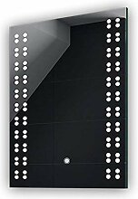 50 x 70 cm Design Badspiegel mit LED Beleuchtung