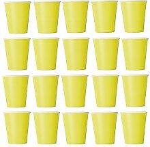 50 x Becher Gelb Einwegbecher für Kaltgetränke und Heißgetränke aus Pappe umweltfreundlich, Hochzeit, Geburtstag, Kaffeebecher, Picknick, Garten, Party, Grillen