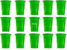 50 x Becher Grün Einwegbecher, Einweg Kunststoffbecher, 450ml, sehr stabil