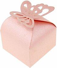50 x Gastgeschenk Schachtel Geschenkbox Rosa