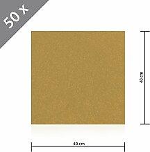 50 x HSM Teppichfliese Nadelfilz Bodenbelag selbstklebend für Treppe, Kinderzimmer oder Küche 40cm x 40cm BEIGE