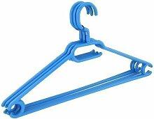 50 x Kleiderbügel drehbar Set Wäschebügel Kinderschrank Bügel Kunststoff Drehbügel (blau)