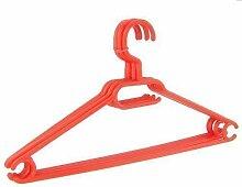 50 x Kleiderbügel drehbar Set Wäschebügel Kinderschrank Bügel Kunststoff Drehbügel (rot)