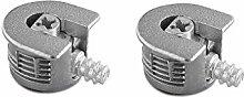 50x KNOCK Down Cam Lock–flach Pack Möbel,