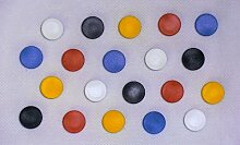 50 x NOBO 12 mm runde Pinnwand Magnete Memoboard
