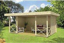 500 cm x 350 cm Gartenhaus Pivoine Garten Living