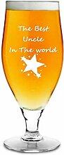 500ml Ergab Bier Glas mit dem Best Uncle in der