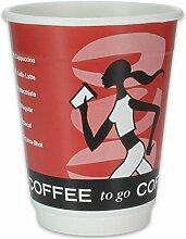 500 Premium Doppelwand-Kaffeebecher - 12oz, 300ml,
