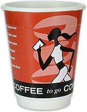 500 Premium Doppelwand-Kaffeebecher - 8oz, 200ml,