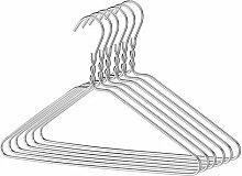 500 Silber Draht-Kleiderbügel , Draht-Stärke: ca. 2,3 mm -PLAIN
