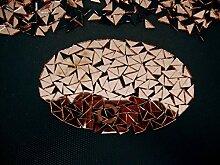 500 Stück Mosaik-Spiegel in Roségold, klein,