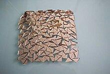 500 Stück Mosaik-Spiegelfliesen, dreieckig, ca. 1