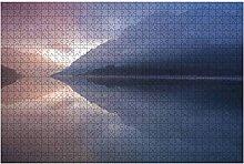 500 Teile-Luftbild des Berges Fuji mit Morgennebel