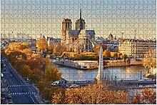 500 Teile-Luftbild Stadtansicht von Paris mit