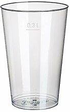 500 Trinkbecher, PS 0,3 l Ø 7,9 cm · 11,9 cm glasklar aus Plastik