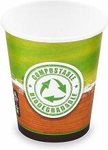 500x BIO Kartonbecher Kaffeebecher CoffeeToGo