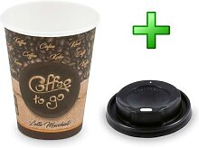 500x Kaffeebecher L 'Latte Macchiato' mit