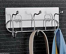 5011Magic Flexible Aufkleber Wandhalterung Chrom Coat Hat Handtuch Rack Haken Kleiderbügel