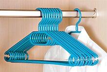 50er Pack Kleiderbügel aus Kunststoff, blau / petrol, Breite 40cm, Kesper (17,50 EUR / Stück)