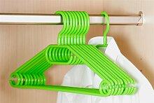 50er Pack Kleiderbügel aus Kunststoff, grün,