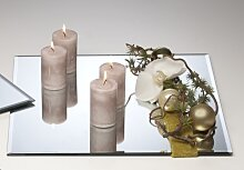 50er Set Spiegelplatte, Dekospiegel, Tischspiegel, 25x25cm, Glas, Sandra Rich (295,00 EUR / Stück)