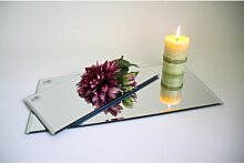 50er SET Spiegelplatten Deko Tischspiegel 30x15cm Glas rechteckig Sandra Rich (199,95 EUR / SET)